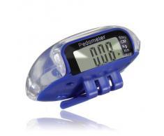 SODIAL(R) Multifuncion Podometro Contador de Calorias Distancia de Paso LCD Digital - Azul