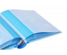 HENZO SAMMY álbum de Fotos de bebé azul - para 200 Fotos 10 x 15 cm - álbum de Fotos - álbum de Fotos para bebé - álbum de - álbum de Fotos - álbum de Fotos de inserción - álbum de inserción