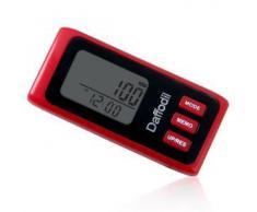 Daffodil HPC650R - Podómetro Multifunción - Memoria de hasta 7 días / Contador de calorías quemadas y monitor de progreso diario [Color rojo]