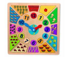 - diseño Pequeño del Pie 1828 Kunterbunt Reloj de Aprendizaje