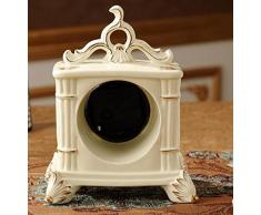Reloj De Cerámica Europea Reloj De Escritorio Retro Minimalista Dormitorio Sala De Estar De Lujo Adornos Decorativos De Regalo Reloj Retro