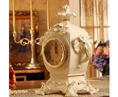 Cerámica Europea Gran Plantón Campana De La Moda Retro Reloj Reloj De Mesa Creativa Adornos Decorativos Artesanales Muebles Para El Hogar Suave