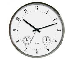 TechnoTrade WT 7980, Negro, Blanco, 330 mm, 330 mm - Reloj de pared