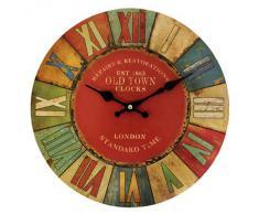 Grande Reloj de pared para cocina London Old Town UK Retro Vintage Shabby Chic diseño británico diseño de Art Regalos