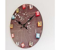 Perla PD Diseño reloj de pared Reloj de cocina vintage diseño retro Modern aprox. 28 cm de diámetro