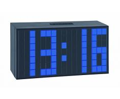 TFA 98.1082.06 - Reloj despertador digital LED, de diseño, color azul oscuro