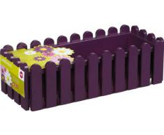 Emsa 508697 Casa Brilliant - Jardinera rectangular (polipropileno, 75 x 20 x 16 cm), color morado
