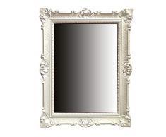 Espejo De Pared Blanco-plata Antiguo Barroca Retro 50x76 Shabby Prunk Vintage Arte Y Antigüedades Espejos