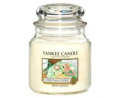 Yankee Candle 114504E - Vela media aromática en tarro galletas de navidad, color blanco