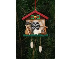 Adornos de árbol Reyes Magos Reloj cucú Pastor - 7,0x6,7cm / 3x3 pulgadas - Christian Ulbricht
