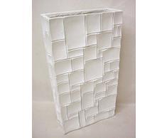 jarron florero bloques polystone fibra de vidrio blanco grande