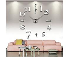 Reloj pared 3D grandes bricolaje moderna para decoración del hogar oficina
