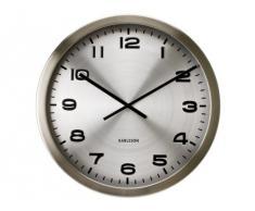 Present Time KA4462 - Reloj analogico de pared de cuarzo - Acero pulido