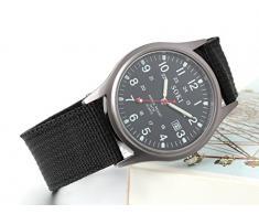 Jewelrywe Reloj de caballero de cuarzo con correa de nylon 42417a273df2