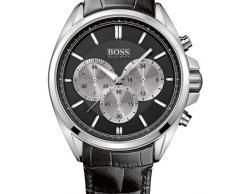 05a04882407e Hugo Boss 1512879 - Reloj cronógrafo de cuarzo para hombre con correa de  piel
