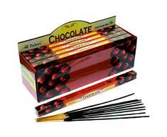Tulasi - Varillas de incienso con aroma a chocolate, lote de 25 paquetes