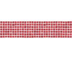 BHF FDB50037 Ceramica para cocina y baño, diseño de mosaico, color rojo