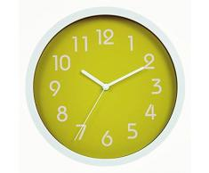 Binwo modernos colorido elegante con estilo silencioso para no marcando Inicio Cocina / sala de estar del reloj de pared 10 pulgadas (Verde)
