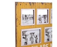 Pide X esa Boca HF679 - Porta fotos de pared, diseño You Are My Sunshine, 40 x 40 cm