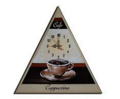 Reloj de pared Café Capuchino - Cuadros en Lienzo - COMPLETO pintado a mano - Lounge relojo 50x50cm M 26