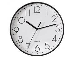Hama Reloj de Pared, Plástico, Negro, 26.5x23.5x4.5 cm