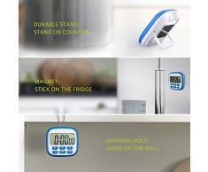 Topop Temporizador Eléctrico Fitness Timer Digital Display LCD Reloj Digital De Acuerdo Temporizador de Cocina