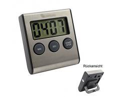 de acero inoxidable de temporizador de cocina digital. reloj con alarma, arriba y abajo de la función, soporte magnético