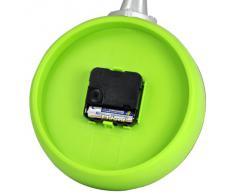 Gleader Reloj de Sarten con Huevo Frito - Reloj de Pared Novedad para Cocina - Verde