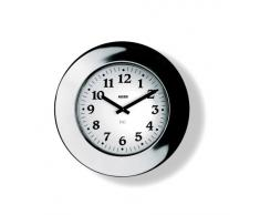 Alessi 11 Momento - Reloj de pared (acero inoxidable 18/10 brillante, movimiento mecánico)