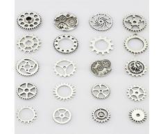 lollibeads (TM) de metal antiguo esqueleto Reloj Steampunk Gear Cog rueda conjuntos