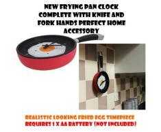 Nueva sartén reloj con cuchillo y tenedor manos libres hogar perfecto Accessory