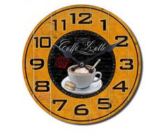 Reloj de pared Decoration Cocina Sala Country Retro Vintage Shabby Chic Flor Oldtimer Vespa Botella de Vino Taza de Café, modelo:mod 3