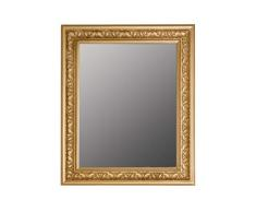 elbmöbel – Espejo de Pared Estilo Antiguo Barroco con Borde Biselado – XL ankleid Espejo Espejo de Cuerpo Entero Perchero Espejo Marco de Madera, Dorado, 62 x 52 cm