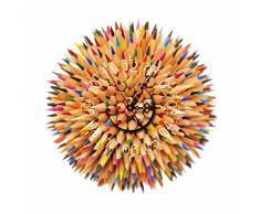 Bluelover PAG PEGATINA pared 3D reloj etiquetas lápiz bola DIY Wall Sticker colorida casa pared decoración regalo