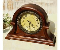 Viento Chino Clásico Retro En Forma De Castillo Reloj De Escritorio De Madera De Muebles Para El Hogar Reloj De Mesa De Regalos Retro Silencio