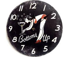 RELOJ DE PARED DISENO BOTTOMS UP PIN UP GIRL RELOJ DE LA COCINA - 30CM - CUARZO - MODERNO NUEVO - Tinas Collection