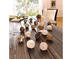 Frank Flechtwaren - Juego de bolas decorativas (20 unidades)
