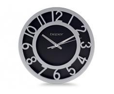 Beper 70.831/BK-SL - Reloj de pared, color negro y plata