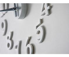 Malloom DIY auto-adhesivo reloj calcomanía moderna Número digital decoración del reloj blanco