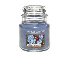 Yankee Candle Classic Housewarmer Mediana, Garden Sweet Pea, Vela Perfumada, Ambiente Fragancia en Vaso / Jar, 1152870