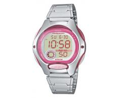 CASIO Collection LW-200D-4AVEF - Reloj para niñas de cuarzo, correa de acero inoxidable color plata