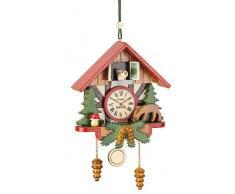 Adornos de árbol Bosque Árbol reloj de cuco ornamento - 10cm / 3,9inch - Hubrig Volkskunst