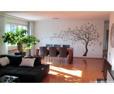 popdecors adhesivo decorativo para pared de flores de diseo de rbol y bhos para nia