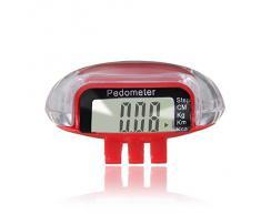 SODIAL(R) Multifuncion Podometro Contador de Calorias Distancia de Paso LCD Digital - Rojo