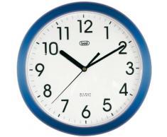 Trevi OM 3301 - Reloj de pared silencioso de 25,5 cm de diámetro con maquinaria de cuarzo, color azul