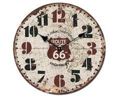 RELOJ DE PARED DISENO ROUTE 66 HIGHWAY 30CM MODERNO - Tinas Collection