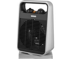 Unold 86116 calentador de ambiente - Calefactor (230V, 50 Hz, 19,5 cm, 12,6 cm, 32,6 cm) Negro, Plata