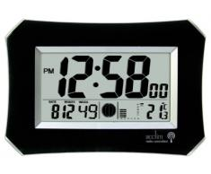Acctim 74423 Halo - Reloj de pared, color negro