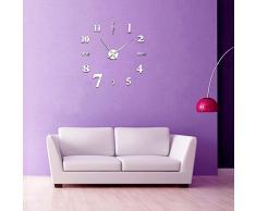 Soledi Reloj de Pared con Números Adhesivos 3D DIY Bricolaje Decoración Adorno
