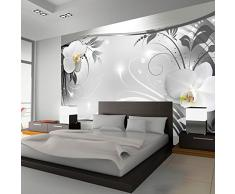 Fotomural 400x280 cm ! 3 tres colores a elegir - Papel tejido-no tejido. Fotomurales - Papel pintado 400x280 cm - flores orquídea ornamento abstracción b-A-0078-a-b